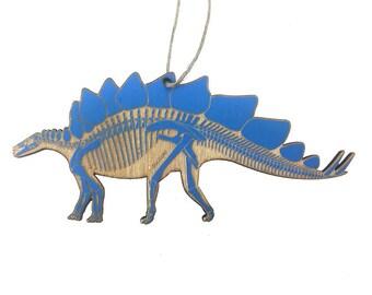 Stegosaurus Skeleton Christmas Ornament