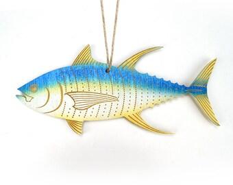 Yellowfin Tuna Christmas Ornament
