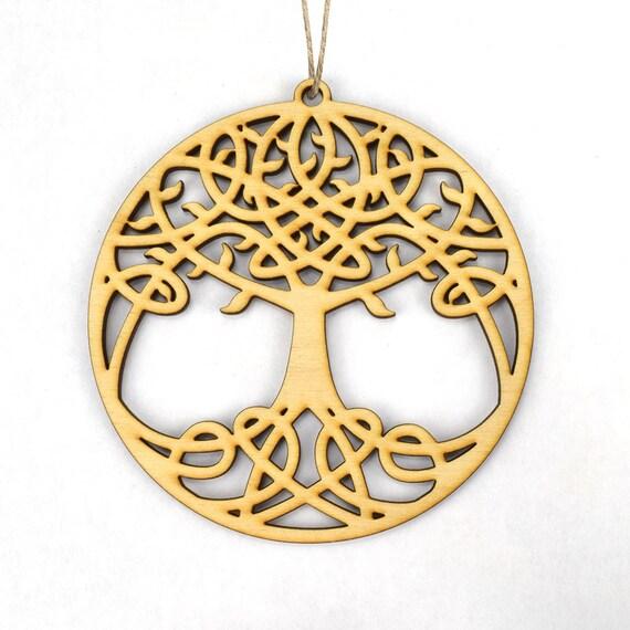 Keltischer Baum Des Lebens Ornament Etsy