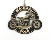Personalized Motorcycle Christmas Ornament, motorcycle gift for him, custom design