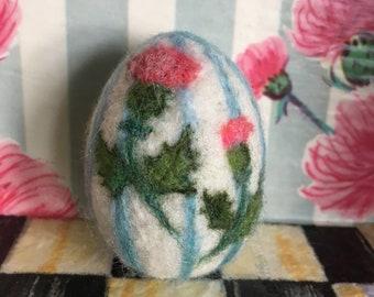 Scottish Thistle Needle Felted Egg
