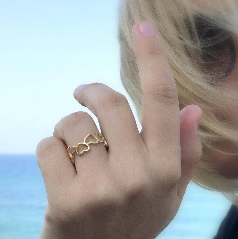 0f34f71969f82 Heart ring gold heart ring heart shaped rings thin ring fashion rings gold  jewelry for women delicate ring heart band ring