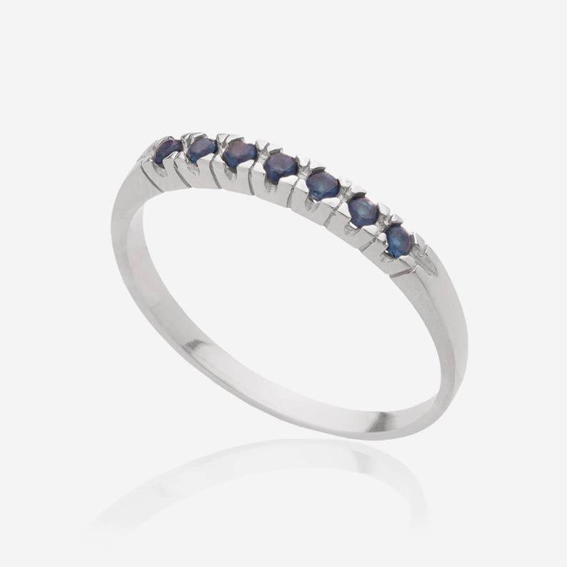White Sapphire Gemstone 925 Argent Glod remplie Pierre de naissance Bague Bijoux 300