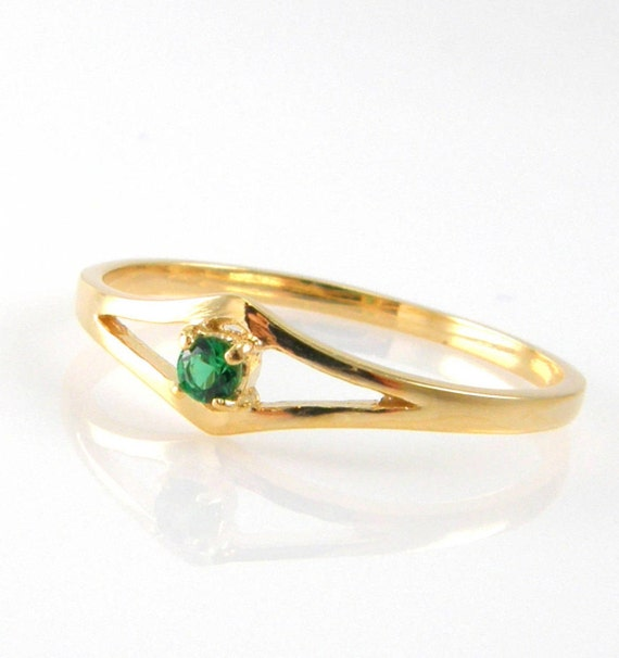 a8d577501128d Emerald ring gold gemstone ring birthstone ring for women green stone ring  emerald jewelry promise ring delicate ring handmade jewelry