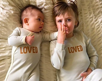Sibling sets Matching Pyjama set LOVED- perfect for new brother gift or new  sister gift best friends gift or twin gift set 2df9e7982