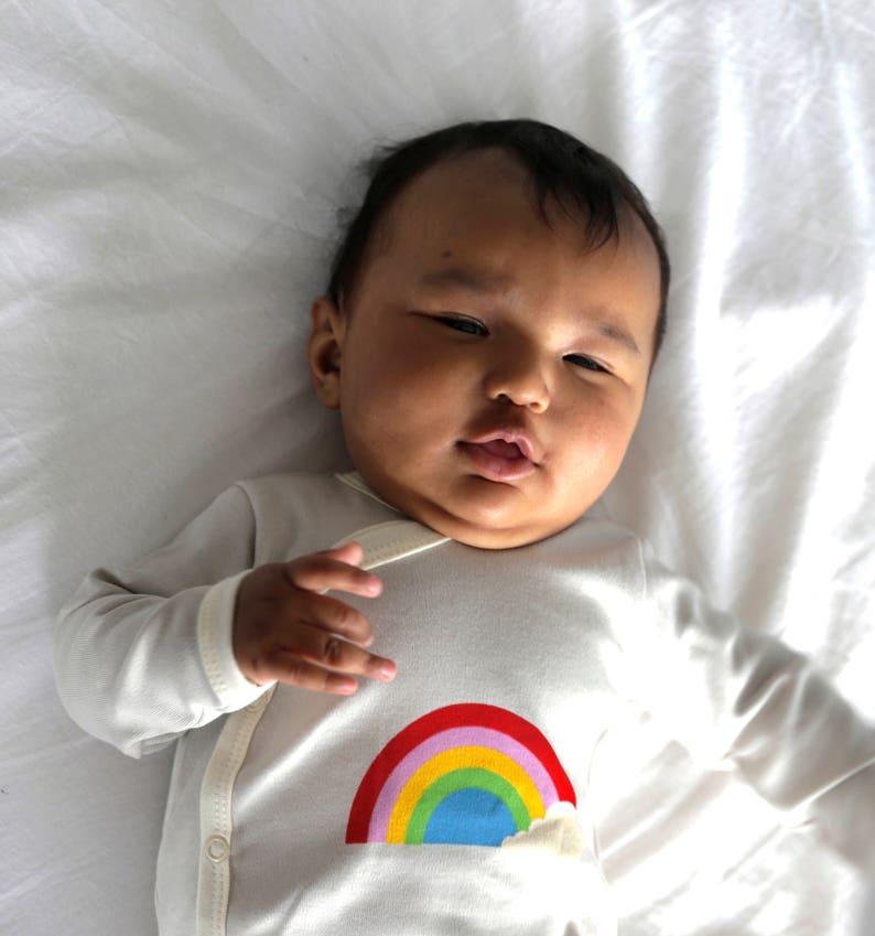 rainbow Baby romper  baby shower gift  pregnancy gift new mom gift mothers day Pregnancy gift for Mom to be Matching Rainbow Pyjamas