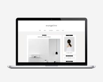 EVANGELINE - Responsive Blogger Template - Sticky Navbar, Simple, Chic, Minimal, Sleek