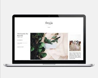 FREYJA - Responsive Blogger Template - Post Info sidebar, Sticky Navigation, Sleek, Minimalist, Easily Customizable