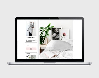 RESPONSIVE BLOGGER TEMPLATE - The Basics - Custom Header, Simple, Chic, Minimal, Sleek