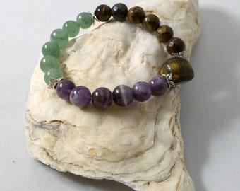 Handmade Healing Gemstone Bracelets~Gemstone Jewelry~Handmade Jewelry~Bracelets~Gemstone Beaded Jewelry~Peace~Love~Prosperity~Protection