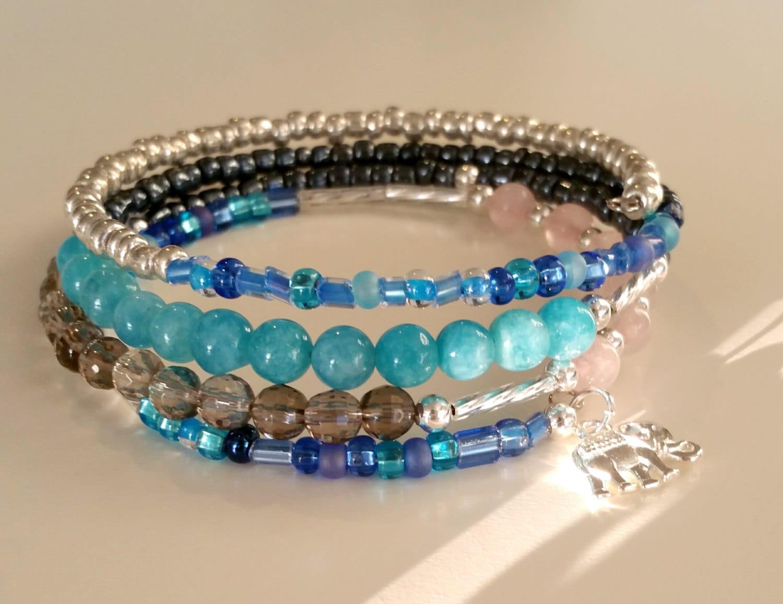 Handmade Gemstone Memory Wire bracelets~Gemstone Jewelry~Handmade ...