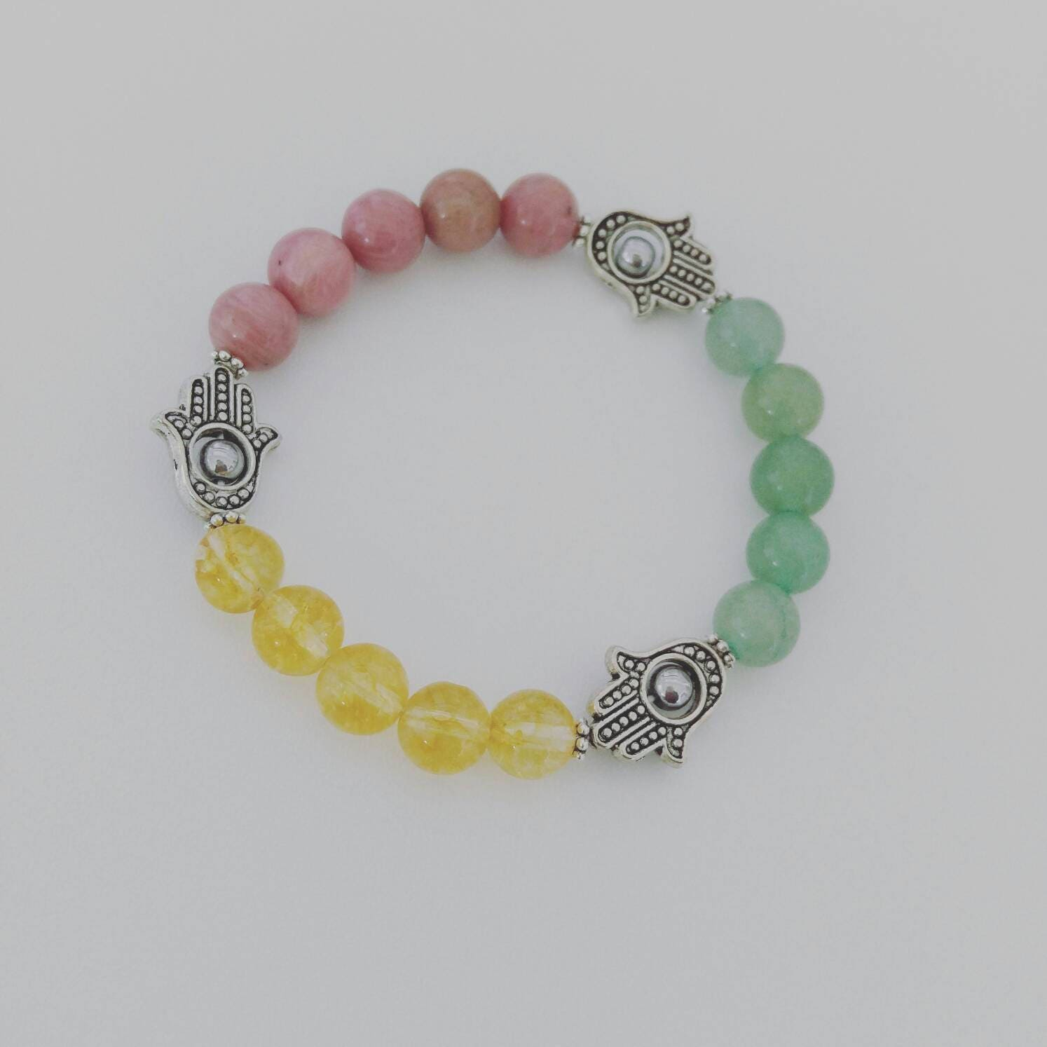 bead bracelet grey gray men natural products beads yoga buddha s mcllroy charm stone striped bangle