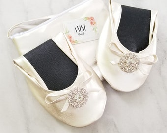 7b3caeb03 Ivory Bridal Slippers