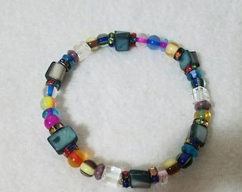 Mutlicolor, bead, stone bracelet