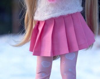 Pastel Slim MSD MiniFee Pleated Skirt Candy Pink