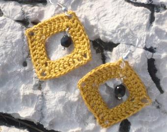Crochet Frame Earrings