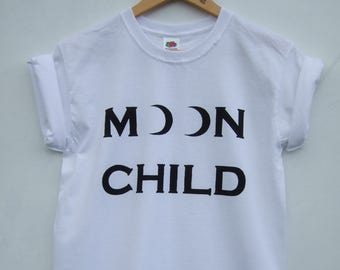 Moon Child Tumblr Shirt, Pale Aesthetic Soft Grunge Indie Hipster Graphic Tee - 2 weeks pre-order