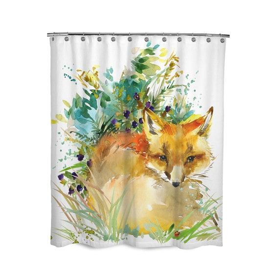 Red Pineapple Waterproof Bathroom Polyester Shower Curtain Liner Water Resistant