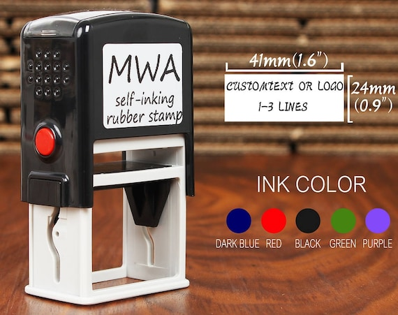 Personalised Self Ink Rubber Stamp Business Address School Accounts Name Post