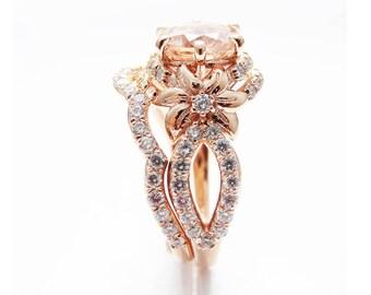 Flower engagement ring Etsy