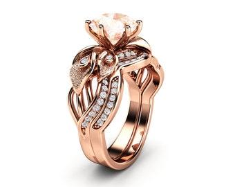 Camellia Jewelry Unique Engagement Ring Von Camelliajewelry Auf Etsy