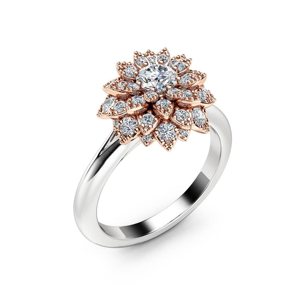 50: Diamond Flower Wedding Rings At Reisefeber.org