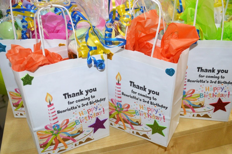 kids Party Bags Personalised Party Bags Pre Filled Party image 0