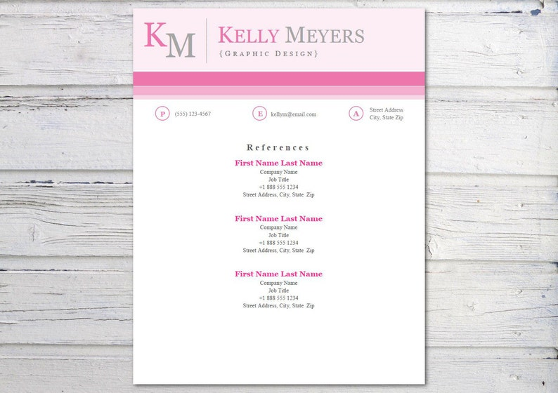 Digital Instant Download Professional Resume Template and Cover Letter Template for Word Modern 10 DIY Printable 3 Pack