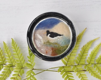 Oystercatcher paperweight, gift, present, small gift, home decor, desk
