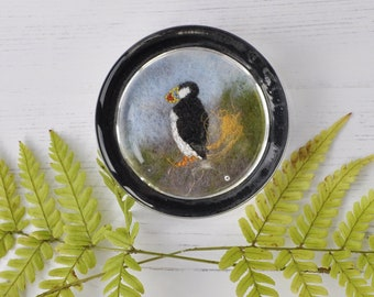 Puffin paperweight, present, small gift, home decor, desk,