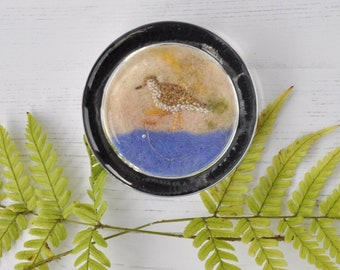 Redshank paperweight, gift, present, small gift, home decor, desk