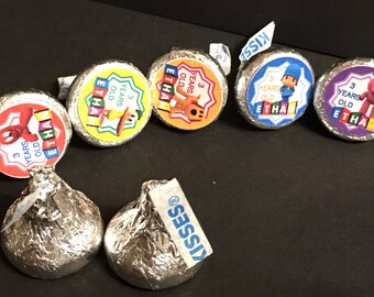 100 Labels for Hershey Kisses Candies