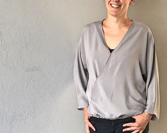 Schnittmuster (Ebook)  Damen Bluse (Gr. 34 - 48)  Damen, Nähanleitung und Schnittmuster in DinA4 und DinA0