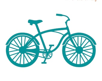 Ironing pattern bicycle, flock film or flex foil in desired colour, for ironing on textiles with a high cotton content