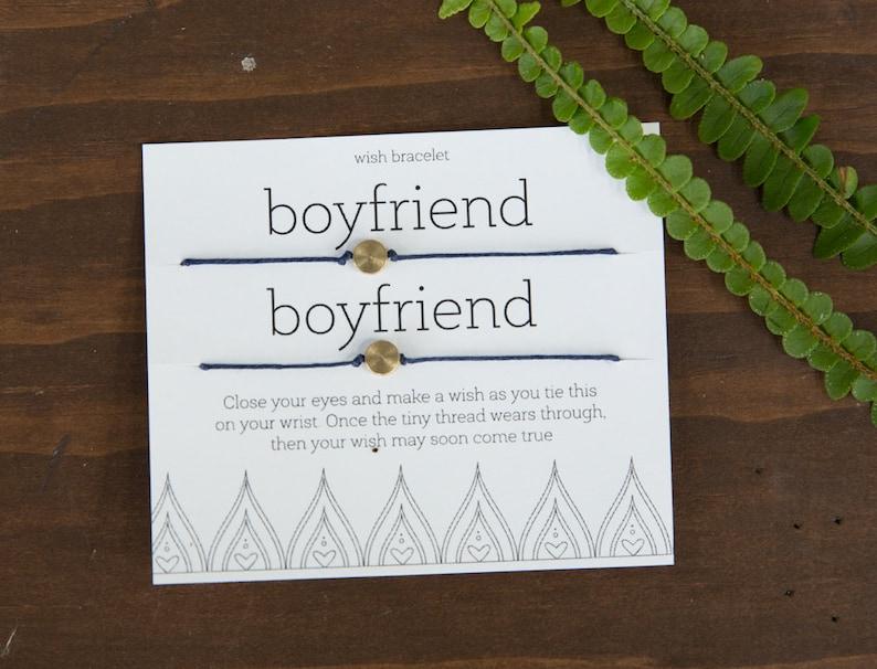 Boyfriends Wish Bracelets Easy Gift For Boyfriend Gift For Etsy
