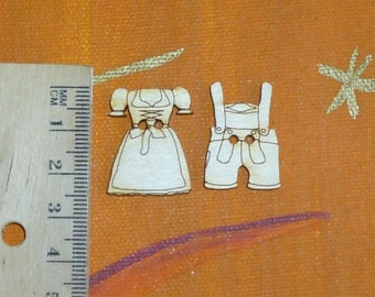 Button Dirndl lederhosen 25 mm for folk festival Oktoberfest as a stray part decoration table decorations