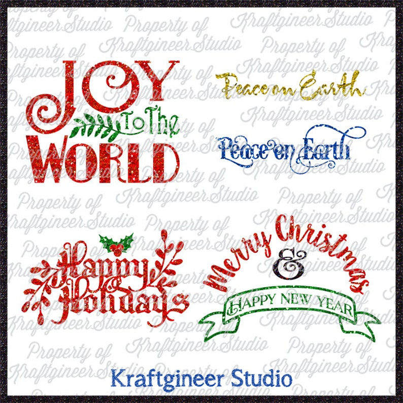 Christmas Phrases 2 SVG Christmas SVG Xmas SVG cut file for Cricut  Silhouette Scan N Cut Commercial Use