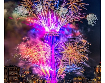 2019 Space Needle Fireworks