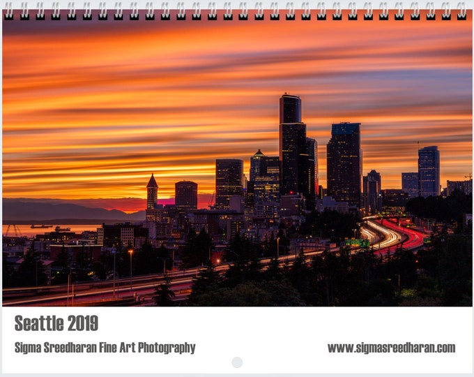 Featured listing image: 2019 Wall Calendar - Seattle by Sigma Sreedharan Photography