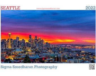 2022 Wall Calendar - Seattle by Sigma Sreedharan Photography