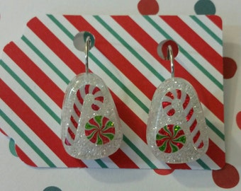 Assorted Christmas treats lever back earrings
