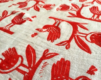 Tea towel Early Bird, flour sack kitchen towel