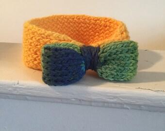 Bow Headband ~ Amarillo & Sunny Day