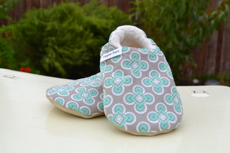 42d1757023be0 blue and grey non slip soft sole shoes. Sizes newborn, baby, toddler,  little kid
