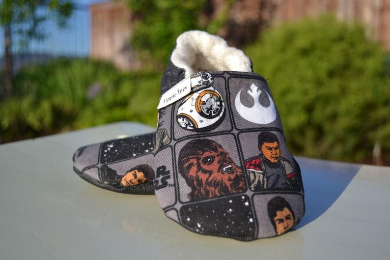 b01186c4d4ccf Star Wars non slip soft sole shoes. Sizes newborn, baby, toddler, little  kid.