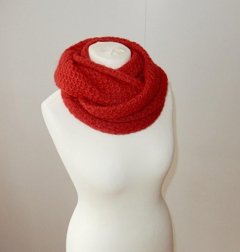 Warm Knit Neck Circle Wool Cowl Snood Long Scarf Shawl Wrap For UK Women Ladies