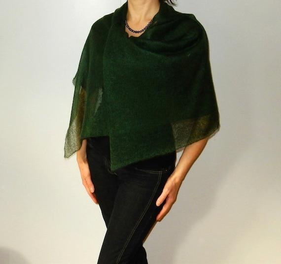 2c9d931e0682 mohair vert châle mohair châle écharpe longue laine tricot   Etsy