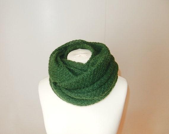 Gray, Violet 2 Circle Bubble Knit Cowl Neck Scarf Shawl