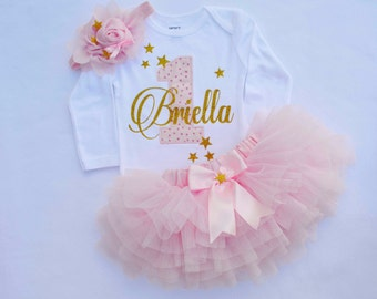 ca29da94135 Baby Girl 1st Birthday Outfit