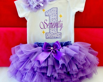 Purple 1st birthday outfit,2nd birthday,1st birthday tutu purple tutu,first birthday outfit girl,gold birthday outfit,cake smash outfit girl